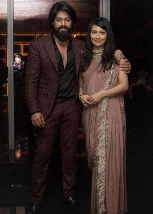 Radhika Pandit and Yash, as seen in January 2020