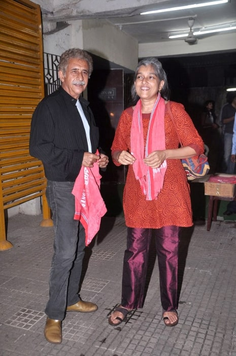 Ratna Pathak and Naseeruddin Shah at the screening of 'Gangs Of Wasseypur' in June 2012