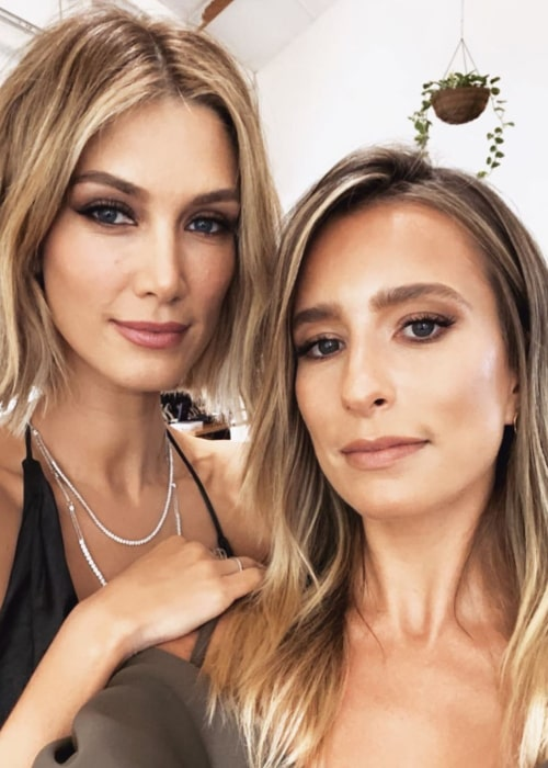 Renee Bargh (Right) as seen in a selfie along with Delta Goodrem in Sydney, Australia in February 2020