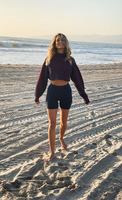 Renee Bargh smiling for a picture in Venice, California in November 2019