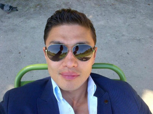 Rick Yune in a selfie in October 2013