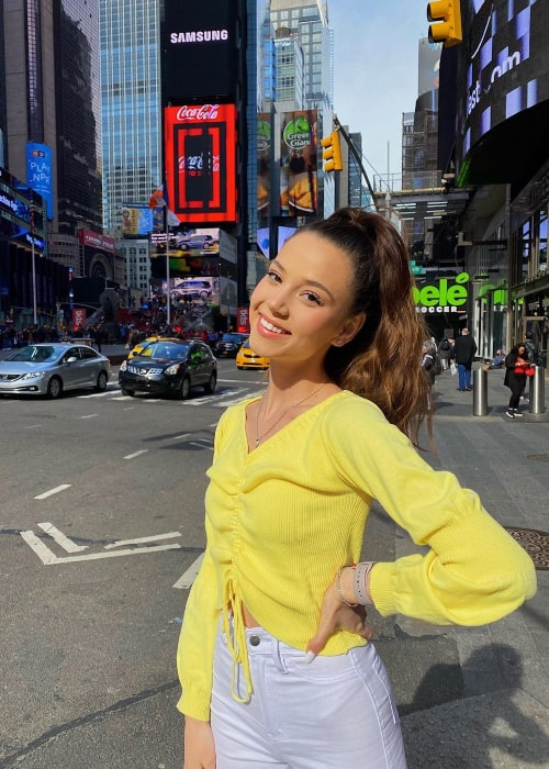 Romina Gafur smiling for a picture in New York City, New York in March 2020