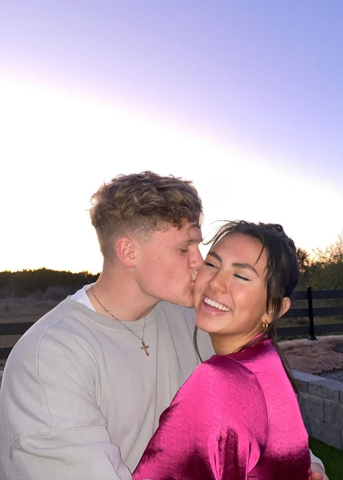 Ryan Trahan as seen in a loved-up picture alongside Haley Pham in February 2020