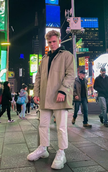 Ryan Trahan as seen while posing for the camera in New York City, New York in October 2019