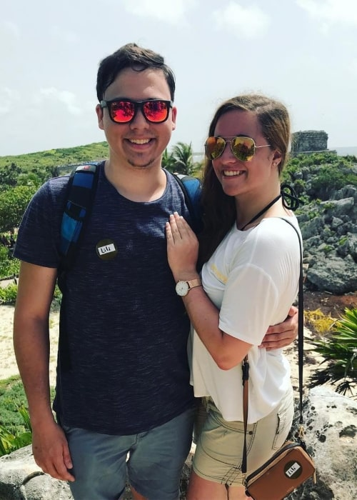 Ryguyrocky as seen in a picture taken with her girlfriend in September 2018