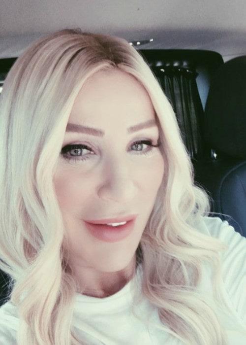 Seda Sayan in an Instagram selfie as seen in September 2019