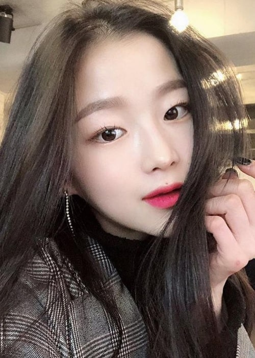 Seungeun as seen in a selfie of hers that was uploaded to her fan account in May 2019