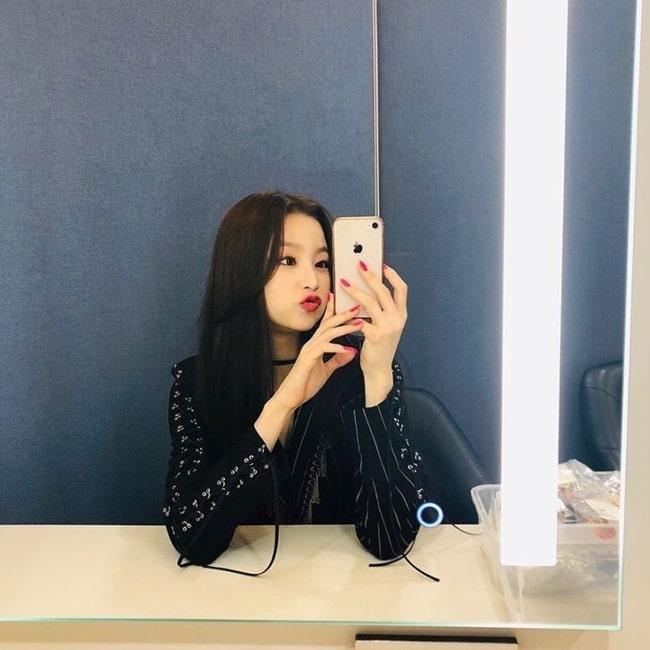Seungeun as seen in a selfie taken in June 2019