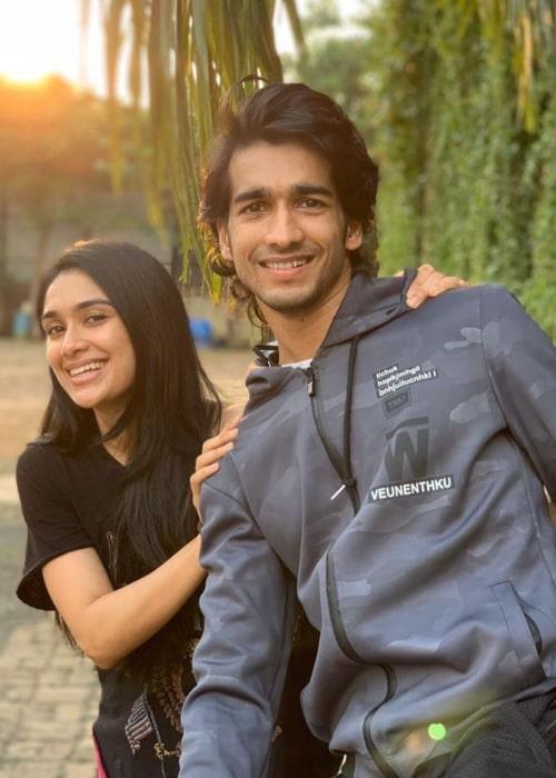 Shantanu Maheshwari and Nityaami Shirke, as seen in April 2020