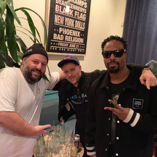 Shawn Wayans as seen in a picture taken with Jonny Abrahams and Mike B at The Friends Bar in May 2019
