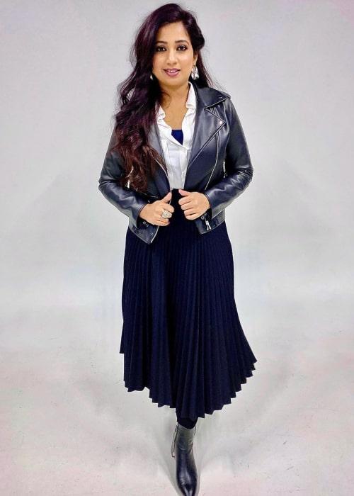 Shreya Ghoshal as seen in an Instagram Post in March 2020