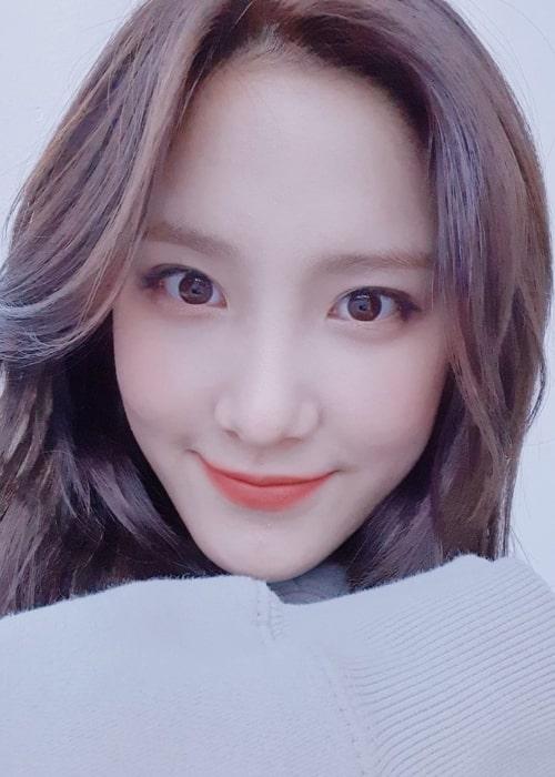 Simyeong as seen in a selfie taken in March 2020