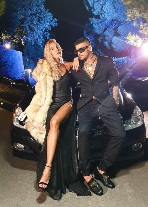 Snik as seen in a picture taken with Georgian-Greek singer Tamta in July 2019