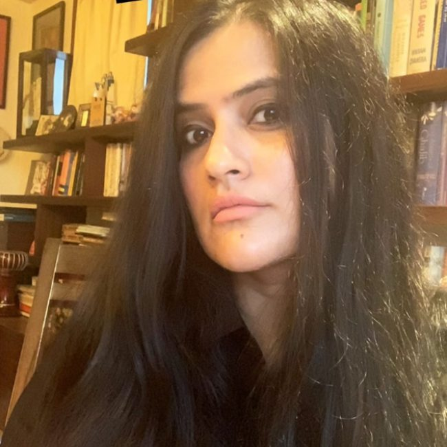 Sona Mohapatra as seen in a selfie in April 2020