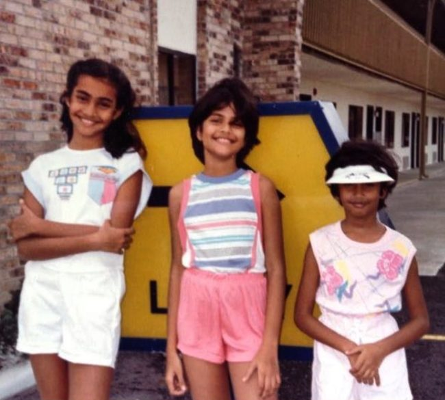 Sona Mohapatra as seen with her sisters during their childhood.