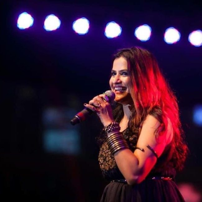 Sona Mohapatra in a concert performance in 2020