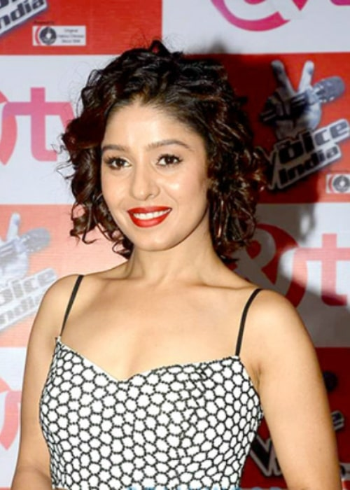 Sunidhi Chauhan as seen in a picture taken at the launch of 'The Voice India' on December 17, 2015