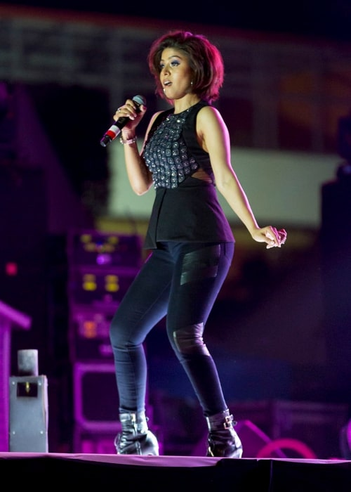 Sunidhi Chauhan as seen in a picture taken in MITE Moodbidri, Mangalore on March 26, 2015
