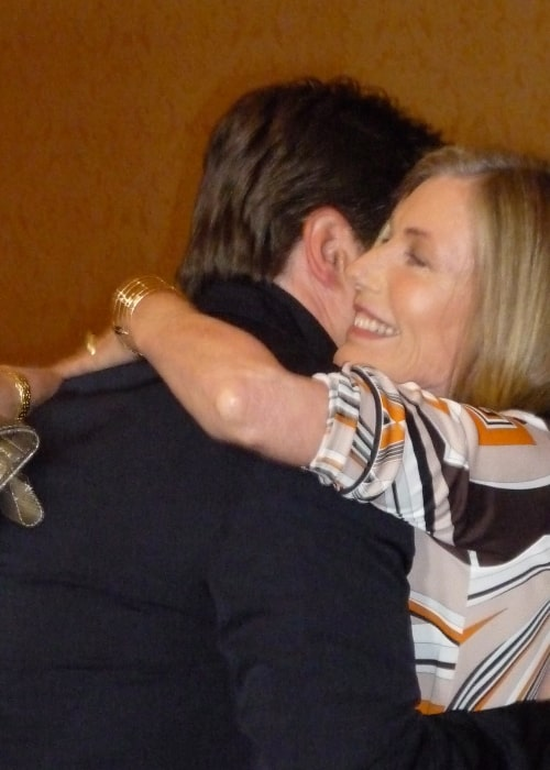 Susan Sullivan as seen in a picture taken with actor Nathan Fillion on August 1, 2010