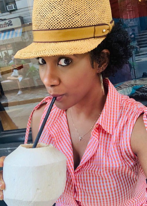 Vicky Jeudy in a selfie in July 2019