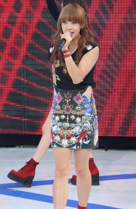 Victoria Song as seen while performing at the M Super Concert on July 28, 2012