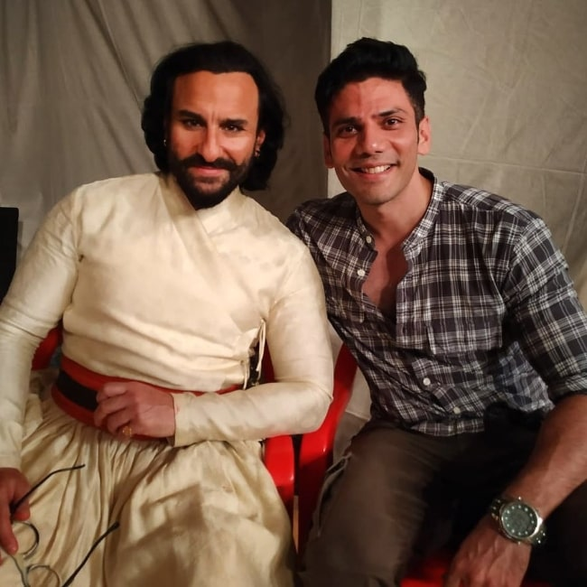 Vipul Gupta (Right) as seen while smiling for a picture alongside Saif Ali Khan in January 2020