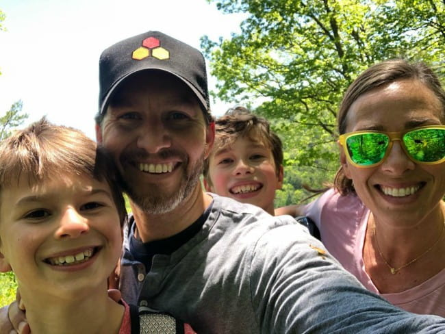 Will Cain with his family as seen in May 2020