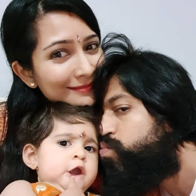 Yash with his wife and daughter in September 2019