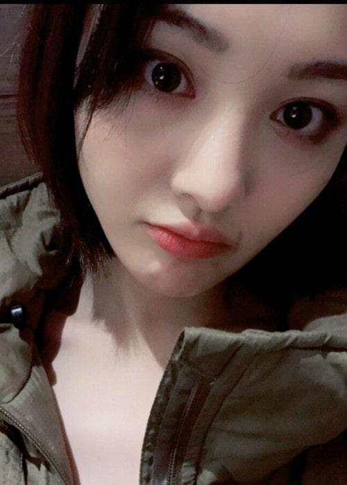 Zheng Shuang in an Instagram selfie as seen in February 2018