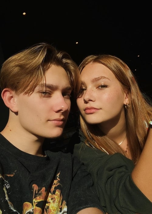 Aidan Merwarth as seen in a selfie taken with his beau Instagram star Nadia Turner in December 2019