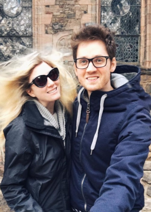 Alex Goot and Elle Fowler, as seen in October 2016