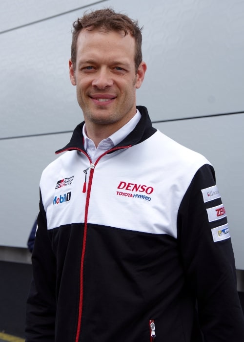 Alexander Wurz as seen in a picture taken at the pit walk for the 2016 edition of the event of the Le Man 24 Hours
