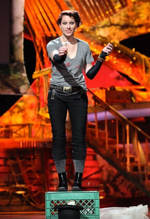 Amanda Palmer as seen during her TED Talk in 2013