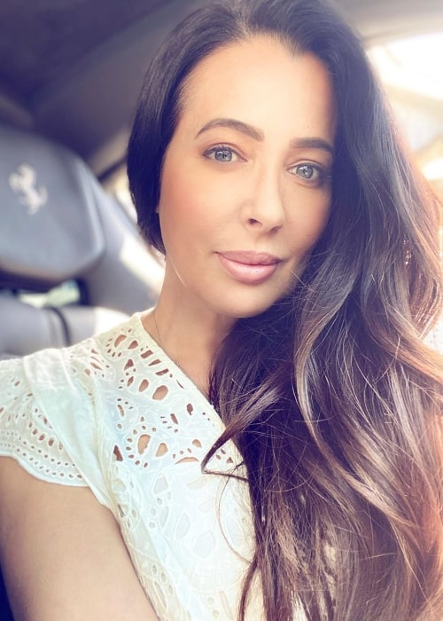 Amy Weber as seen in a selfie taken while driving to Orange County in May 2020