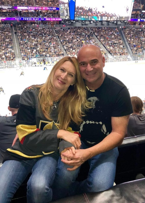 Andre Agassi and Steffi Graf, as seen in April 2018