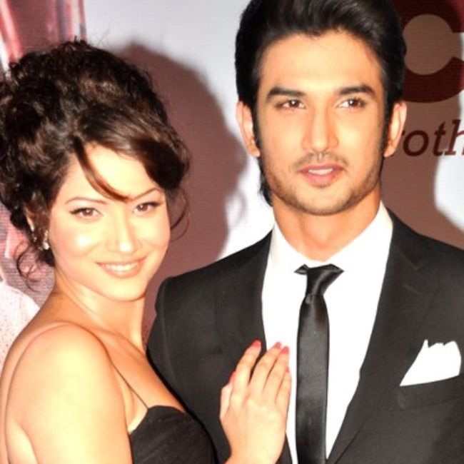 Ankita seen with Sushant Singh Rajput at the premiere of Kai Po Che in 2013