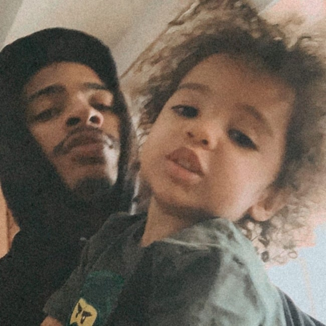 Arin Ray as seen in a picture taken with his son Alia Rose in June 2020