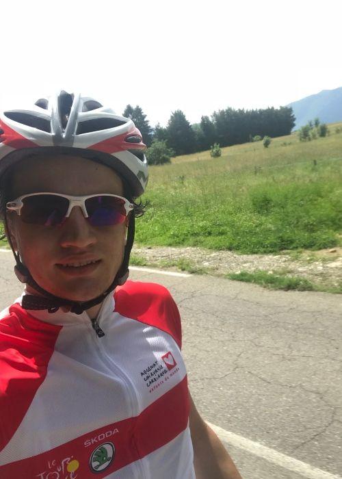 Aurélien Panis as seen cycling in June 2018