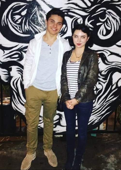 Autumn Wendel in a picture with actor Zach Callison in February 2016