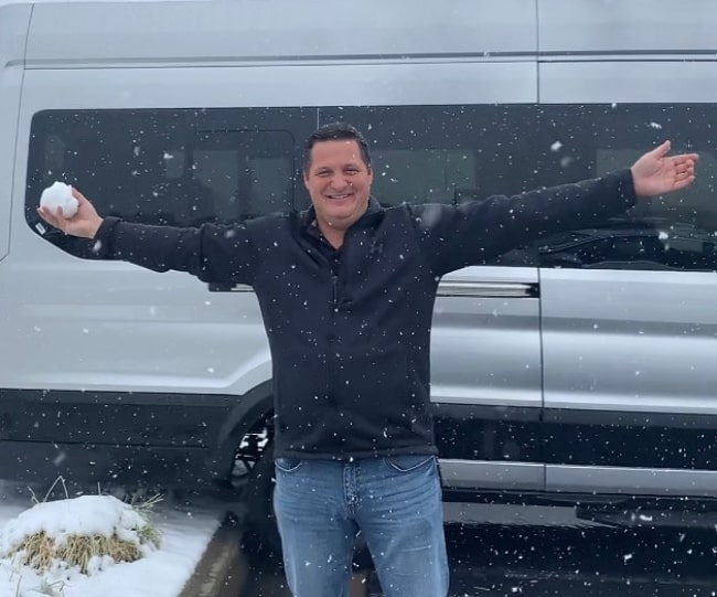 Billy LeBlanc as seen while enjoying the snow in December 2019