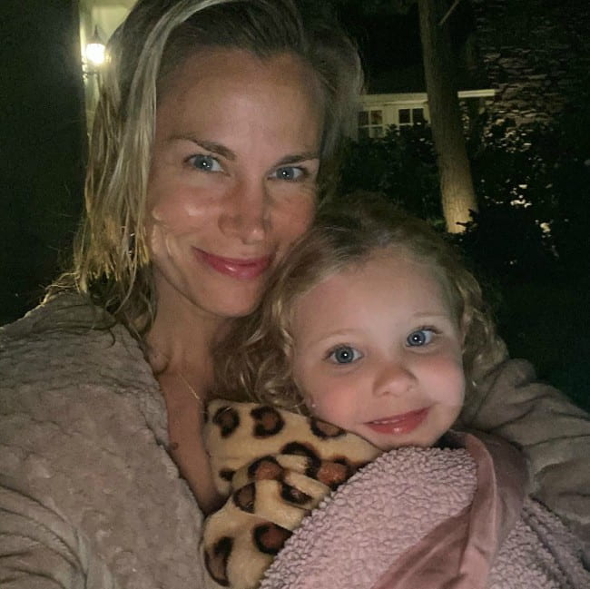 Brooke Burns with her daughter as seen in June 2020