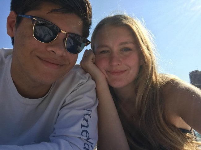 Cameron Das and Bea Trottier in a selfie in April 2019