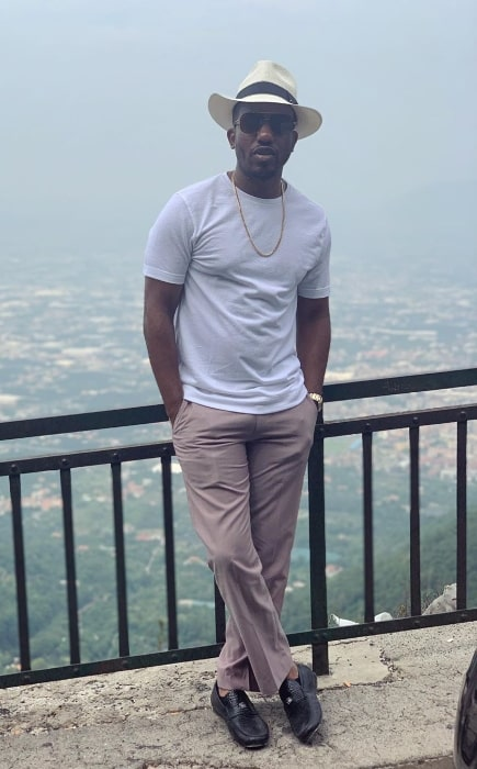 Chris Redd as seen while posing for a picture in Italy in August 2019