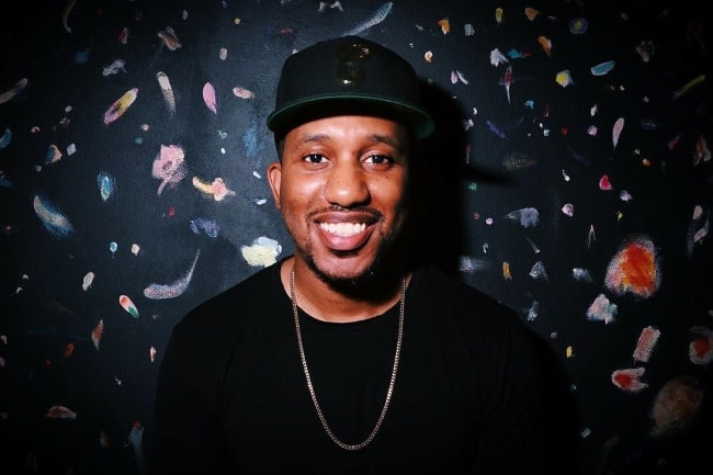 Chris Redd as seen while smiling for a picture in August 2019