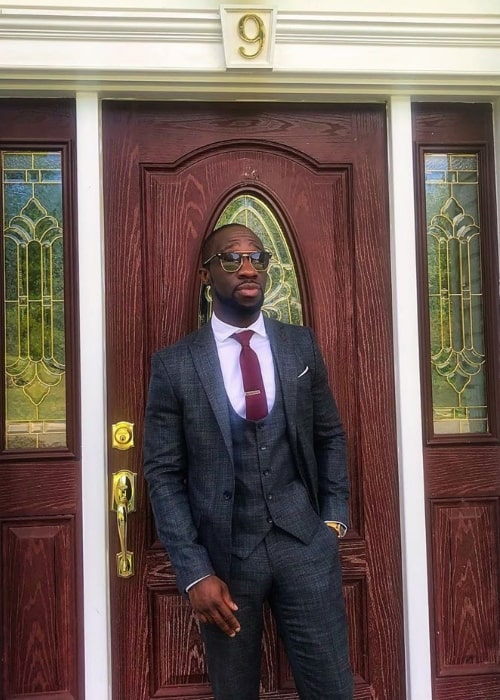 Clifford Owusu as seen while posing for a picture