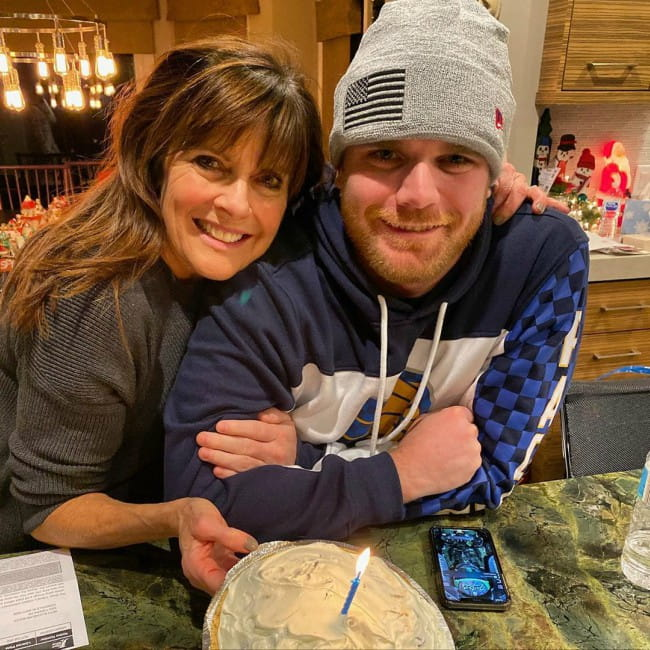Conor Daly with his mother as seen in December 2019