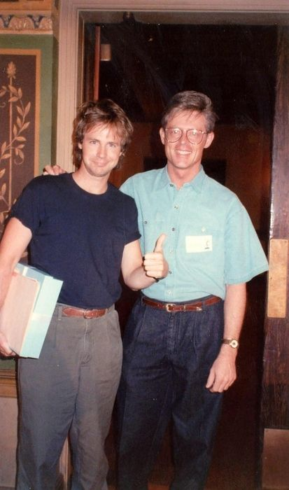 Dana Carvey and Alan Light seen together in 1989