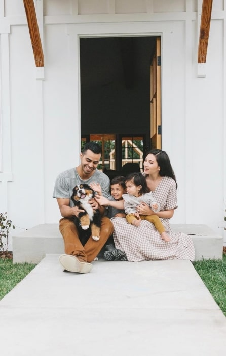 David Lopez with his family in April 2019