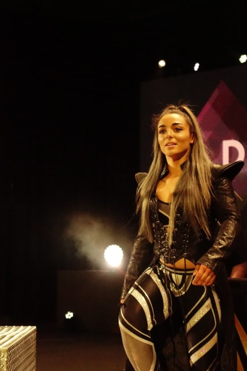 Deonna Purazzo as seen in a picture while making her entrance before a wrestling match on April 6, 2019