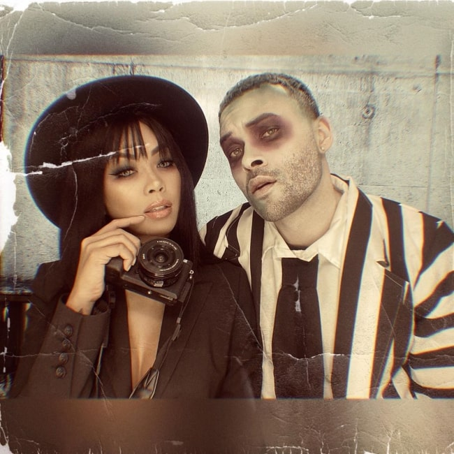 Don Benjamin with his girlfriend in November 2019